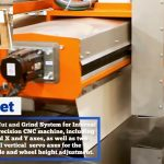 Waterjet Cutter & Grinder for Inside Cutouts with Automatic Dressing