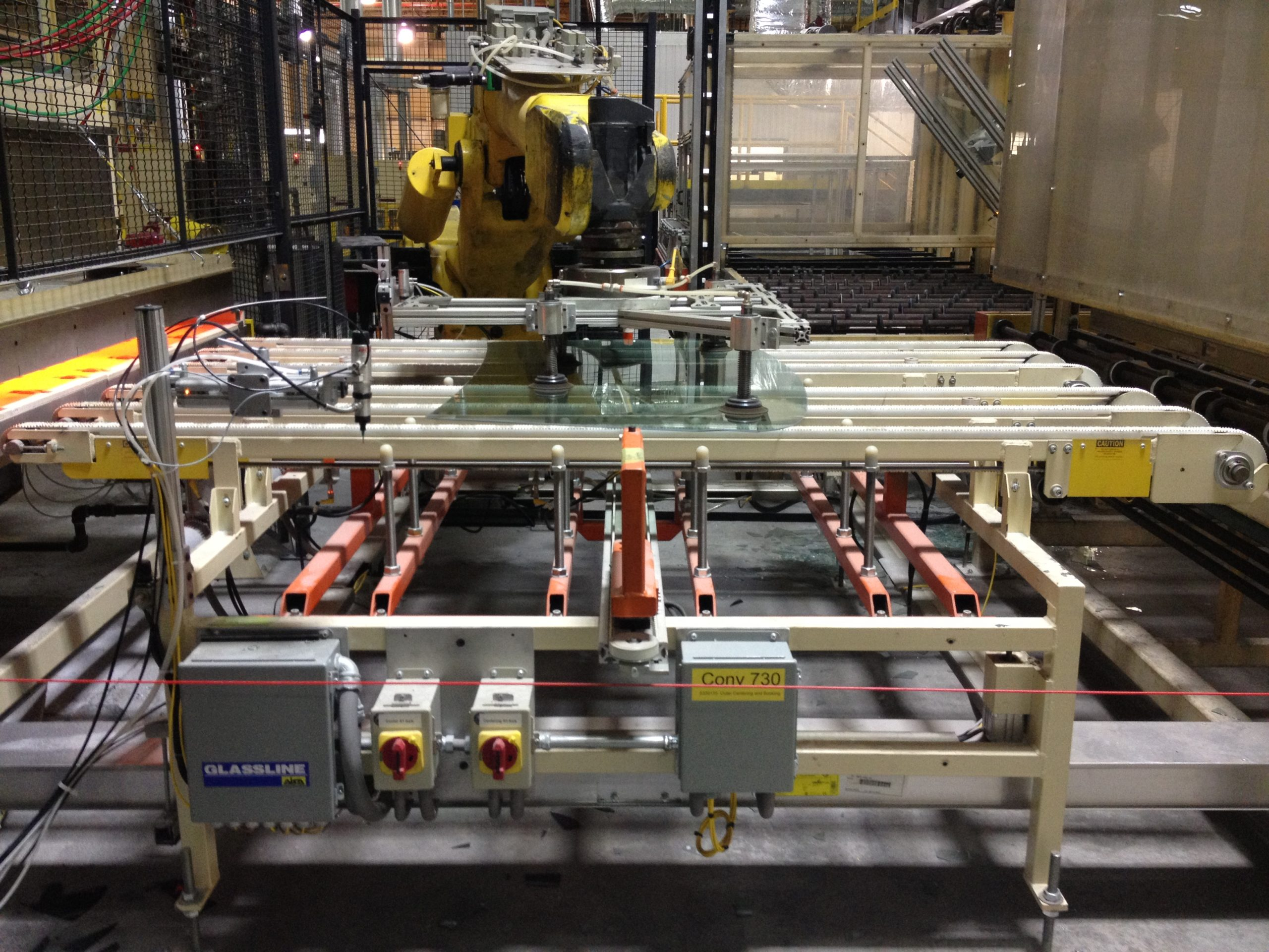 Squaring and Centering Stations(flat and bent glass) - Glassline 2
