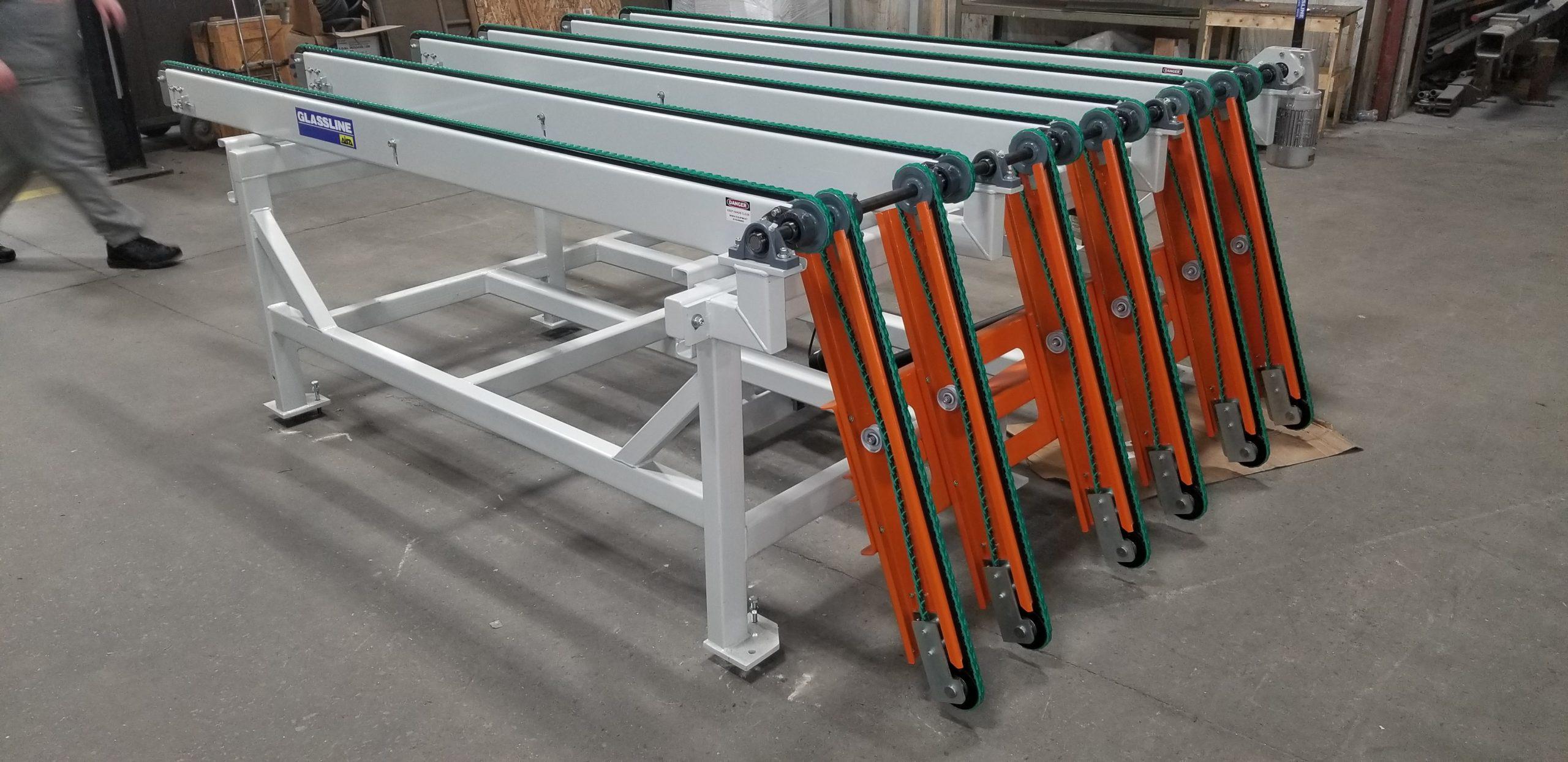 Belt Conveyor with drop gate - Glassline