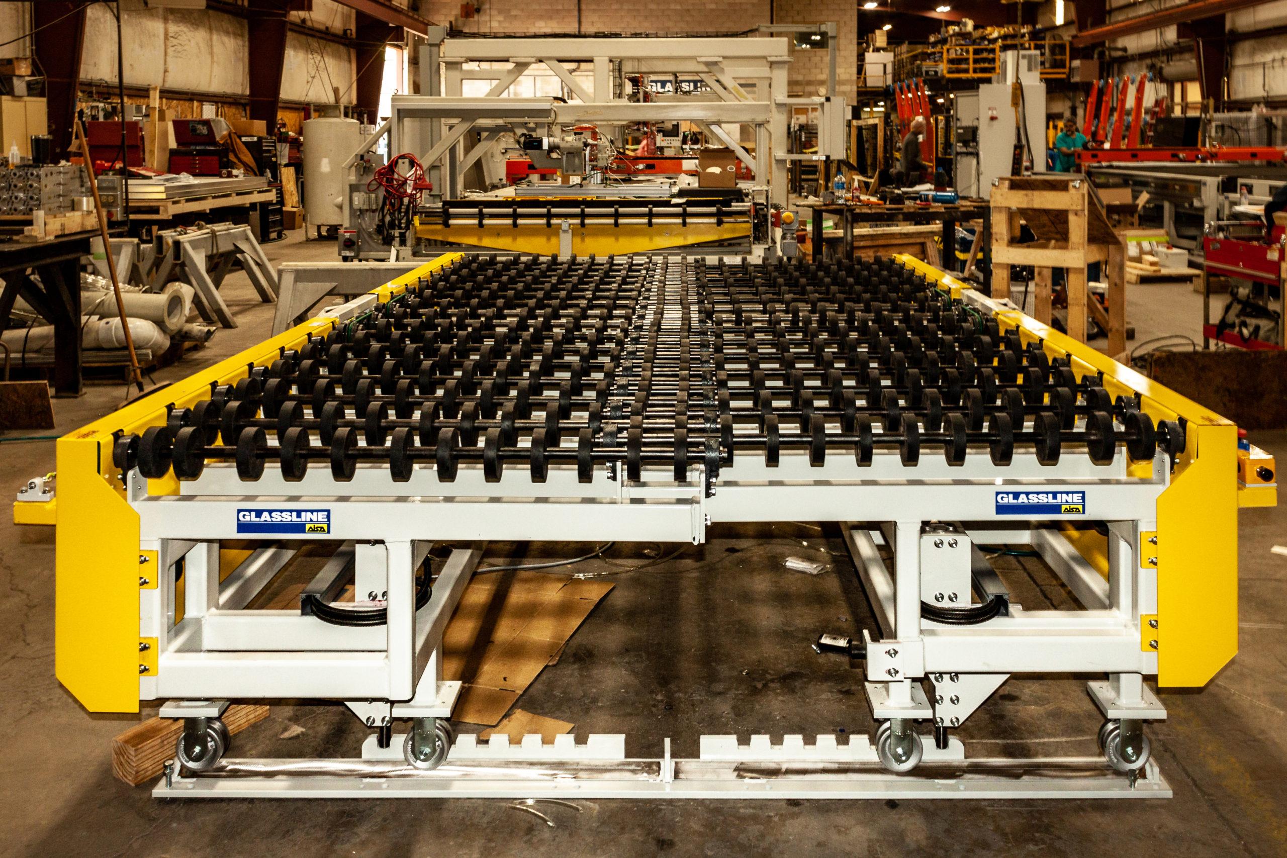 Roll Conveyors - Expand-retractable conveyor | Glassline