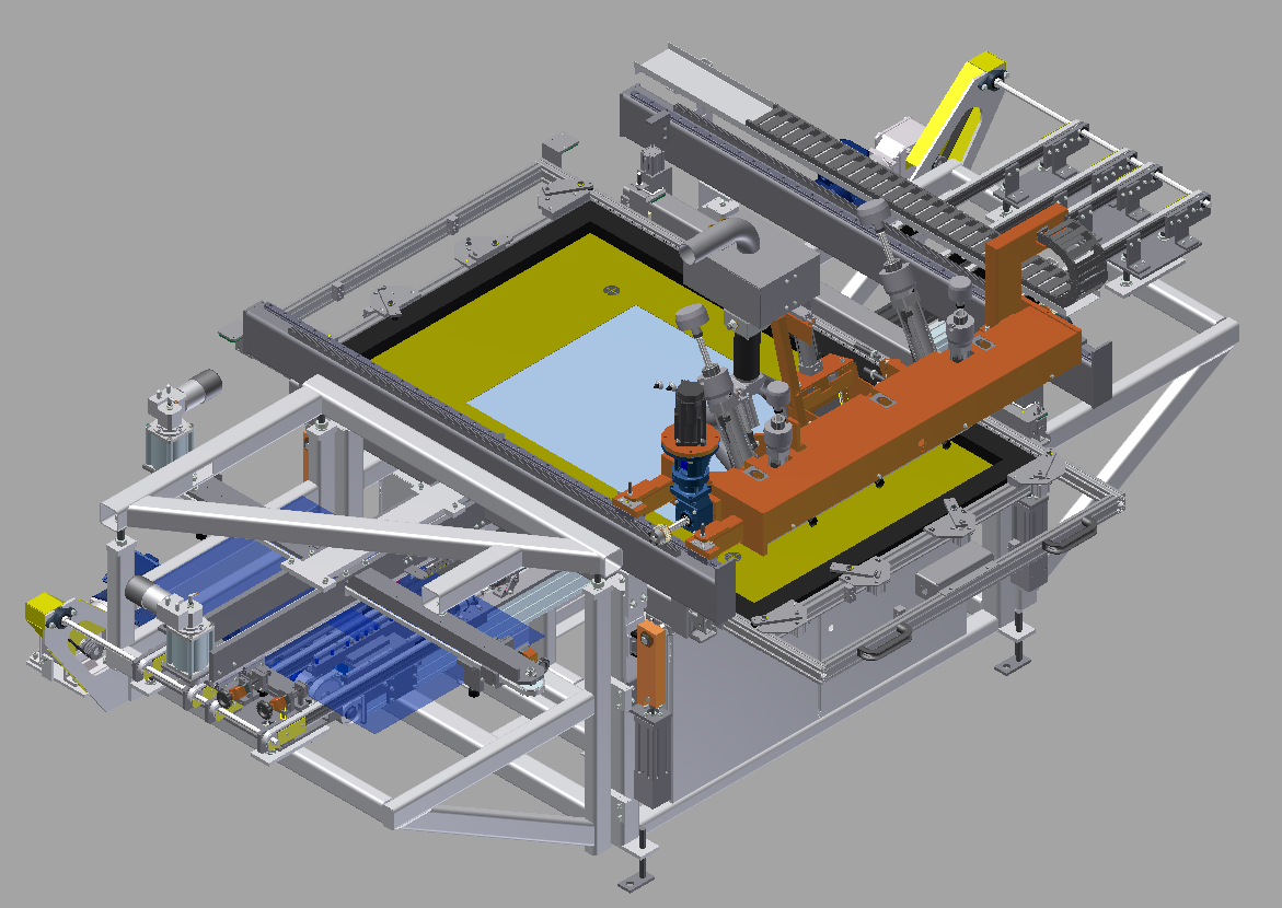GHS155 Silkscreen Printers(shuttle style) layout - Glassline