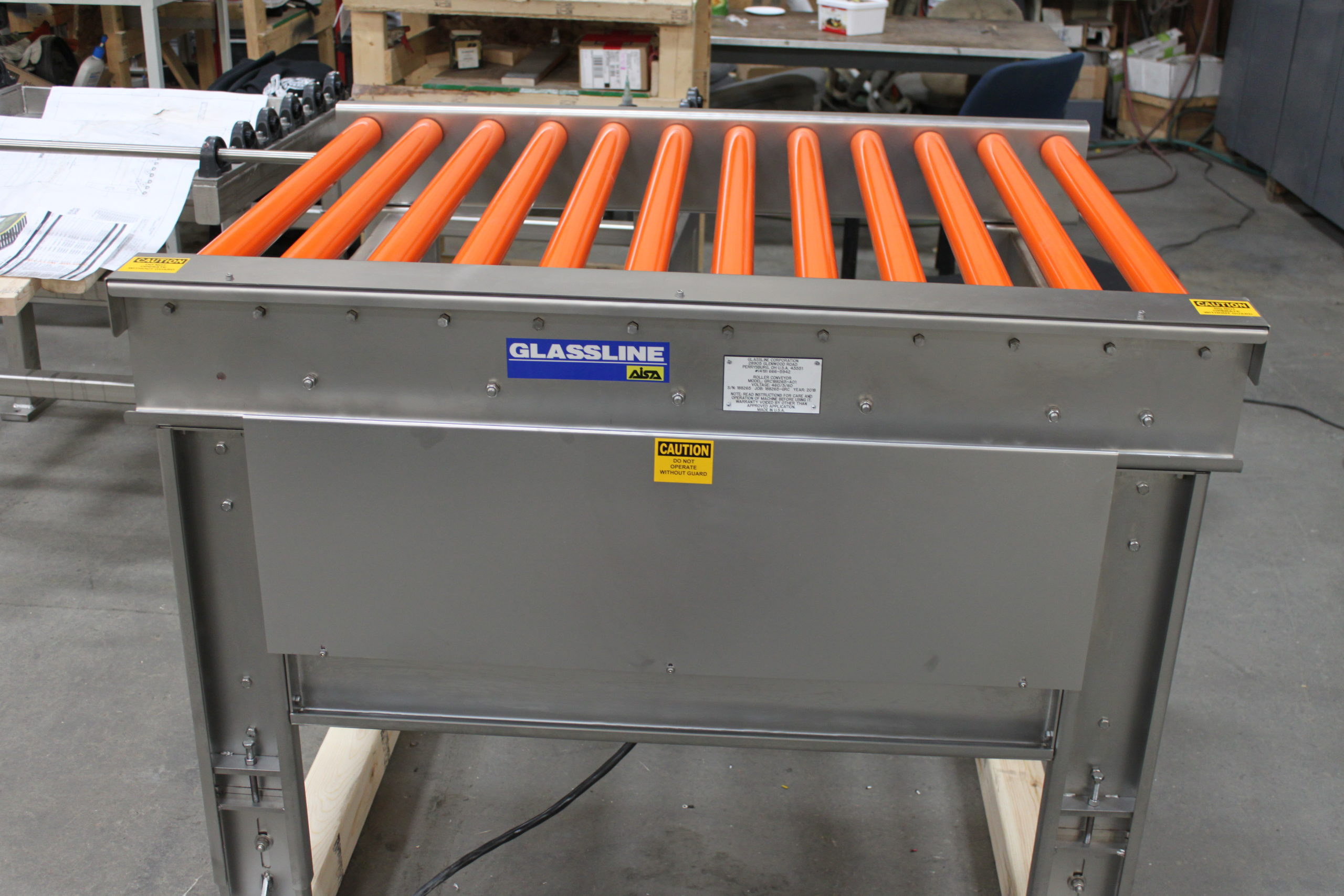 Roll Conveyors - Stainless | Glassline