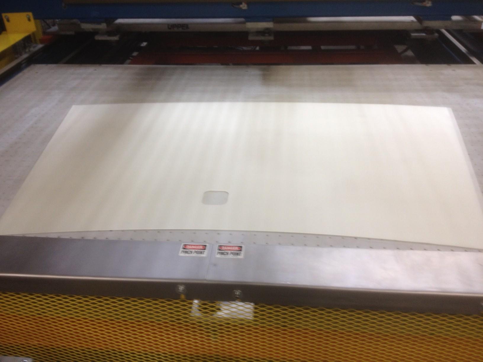 PVB CNC Shape Cutter vinyl hole photo 1 -Glassline