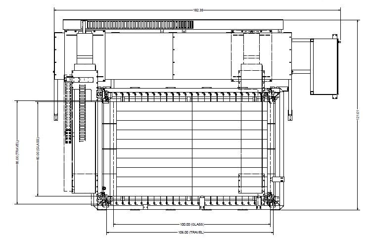"""Waterjet Cutting Machine - 'Gantry' style - 60"""" x 100"""" New Layout - Glassline"""