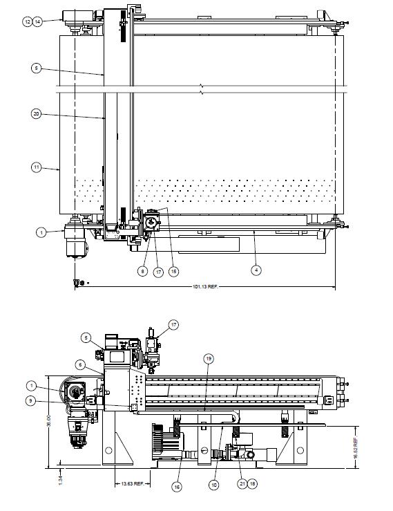 Clearance New - CNC Cutting Machine - LM Layout - Glassline