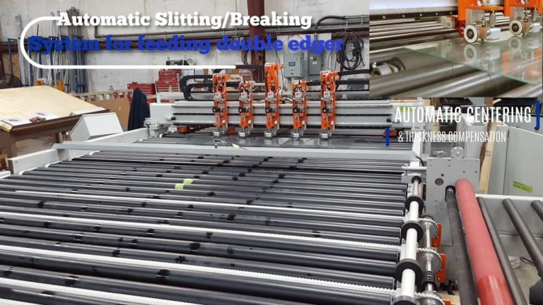 Automatic slitting breaking system for feeding double edger